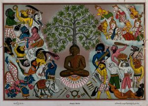 V0046085 Buddha, resisting the demons of Mara, Credit: Wellcome Library, London. Wellcome Images images@wellcome.ac.uk http://wellcomeimages.org Buddha, resisting the demons of Mara, who are attempting to prevent him from attaining enlightenment, as the angels watch from above. Lithograph 1800-1900 Published: - Copyrighted work available under Creative Commons Attribution only licence CC BY 4.0 http://creativecommons.org/licenses/by/4.0/